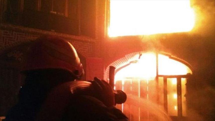 آتش سوزی بازار صفی تبریز اطفاء شد