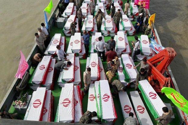 هشتم بهمن ماه امسال؛ پیکر ۱۶۷ شهید دفاع مقدس از طریق آبراه اروند وارد کشور میشود