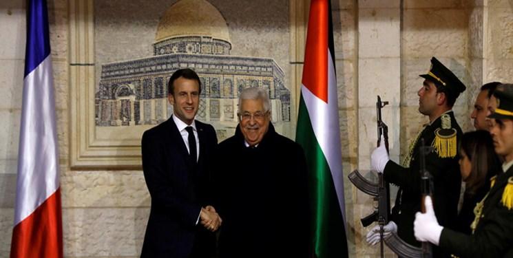 عباس در دیدار با ماکرون: اروپاییها کشور فلسطین را به رسمیت بشناسند