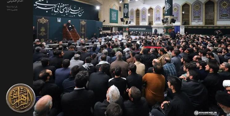 سومین روز برگزاری مراسم عزاداری شهادت حضرت زهرا(س) با حضور رهبر انقلاب
