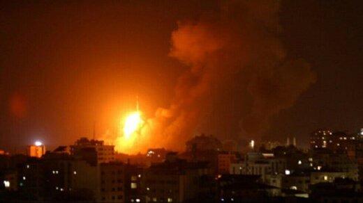 جنگندههای رژیم صهیونیستی نوار غزه را بمباران کردند