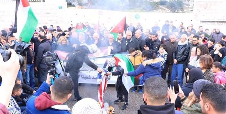 نظامیان صهیونیست با حمله به فلسطینیهای مخالف معامله قرن دهها نفر را مجروح کردند