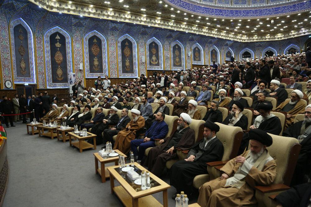 با حضور اساتید حوزه؛ مراسم چهلمین روز شهادت سردار سلیمانی و ابومهدی المهندس برگزار شد