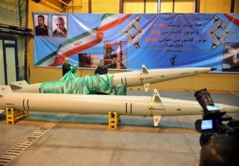 """رونمایی از """"موشک رعد۵۰۰ """" و نسل جدید پیشرانهای موشکی و ماهوارهبرها با حضور سرلشکر سلامی"""