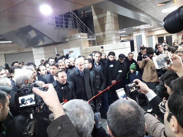 با حضور رییس دفتر ریاست جمهوری؛ فاز سوم خط ۱ قطار شهری تبریزافتتاح شد