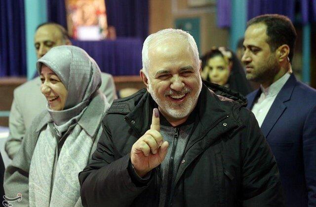 روز انتخاب| ظریف: مردم نمیگذارند یک نفر در واشنگتن برایشان تصمیم بگیرد